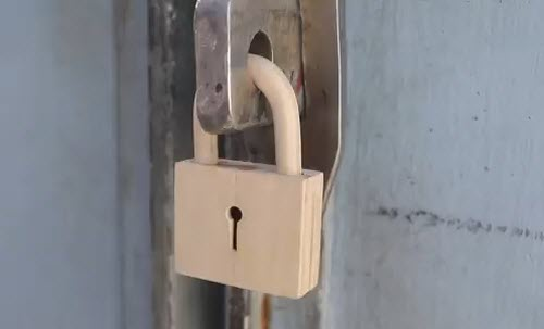 آموزش ساخت قفل چوبی