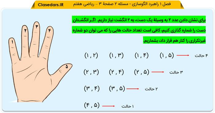 پاسخ مسئله 2 صفحه 3 ریاضی هفتم - کلاس درس